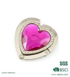 Commerce de gros coeur Rose Cristal de mariage Sac crochet de suspension (BHS-611)