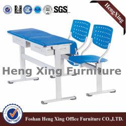 Sede única sala de estudo de teca Mobiliário escolar mesa e cadeira do aluno