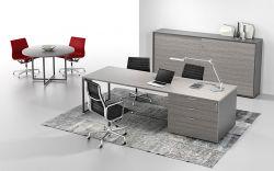 Moderne Farben-Büro-Zeile Schreibtisch mit dem Edelstahl-Bein Lenew-1