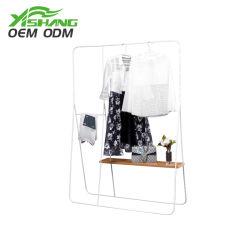 Vestuário de madeira e metal personalizado Store suporte de ecrã