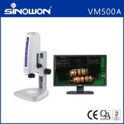 Novo vídeo atualizado microscópio para inspeção de produção