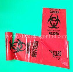 Sacchetto residuo contagioso di Biohazard del grande ospedale su ordinazione in rullo