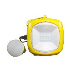Prix de gros de plein air alimenté par batterie main pliage multifonctionnel lumineux LED rechargeable solaire 9 lanterne de Camping