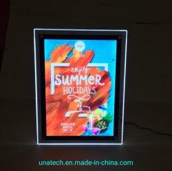 Het binnen Acryl LEIDENE van het Kristal van de Desktop/van de Lijst Bevindende Lichte Vakje van de Reclame