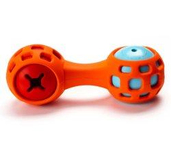 Gummi-IQ-Behandlung/quietschendes Dumbbell-Hundespielzeug