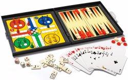 놓이는 우수한 Leatherette 주사위 놀이 - 고전적인 보드 게임