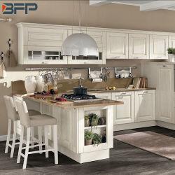 Armoires de cuisine en bois avec panneau de porte de secoueur