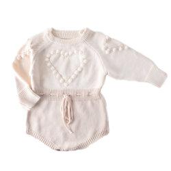 Il Knit appena nato di Onesie del Crochet del pagliaccetto del bambino del fornitore scherza l'abbigliamento dei bambini dei vestiti