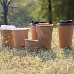 De bonne qualité du papier peint l'ondulation de la tasse de café tasse pour boire à chaud