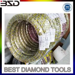 Gummiplastikdiamant-Draht sah für Granit Mono-CNC-Profil-Draht-Ausschnitt-Maschine