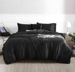 ホテルの黒い絹のハンドルポリエステルセクシーなホーム寝具セット