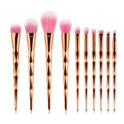 10pcs Custom-Made precio mayorista de pincel de maquillaje pelo natural con el logotipo de privado