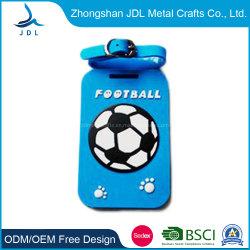 Blau Farbe PVC Gepäckanhänger mit einem Vogel auf Frontpersonalisierte Fashion Weiche Gummi/PVC Gepäckanhänger für Reisewerbung Geschenke (28)