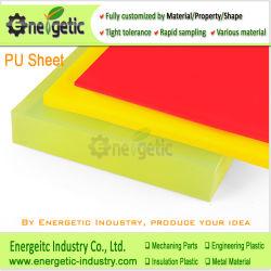Personnalisé de haute qualité en matière plastique polyuréthane PU manchon en caoutchouc plastique feuille/Poly uréthane Feuille Feuille de PU/PU/PU de la tige d'administration/jaune feuille en polyuréthane