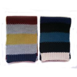 Детей акриловый вязание зимней моды цветной блок шарфа полосы