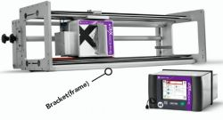 data astuta X40 Markem Imaje di Overprinter di trasferimento termico della testina di stampa di 53mm