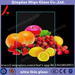 1,3 mm, 1.4mm, 1.5mm, 1.8mm, 2mm, 2,7 mm feuille transparente pour l'image de trame de verre