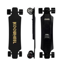 Koowheel 2ÈME GÉNÉRATION D3m, de skateboard électrique à quatre roues en bois d'érable canadien, échangeable LG moyeu double de la batterie moteur, les stocks actuels dans le U. S. Une
