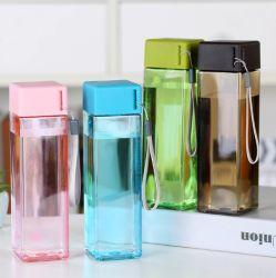 Commerce de gros cadeau de promotion pour les étudiants 500ml Portable bouteille en plastique sans BPA 500ml Eau de bouteilles en plastique