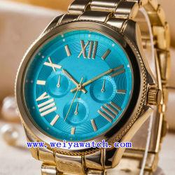 De aço inoxidável de alta qualidade Relógios de quartzo homens relógio ODM (WY-G17005A)