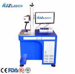 23kg 소기업 금속 보석 플라스틱 전화 상자 로고 표를 위한 기계장치를 인쇄하는 소형 자동화된 탁상용 섬유 Laser 표하기 조각