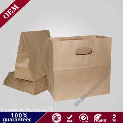 Proveedor chino de reciclar No artesanales manija Brown fuerte comestibles normal junta cuádruple bolsa de papel Kraft