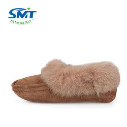 Caricamenti del sistema dell'interno caldi del pistone della suola di cuoio della pelliccia del coniglio