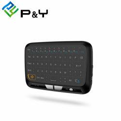 2.4G Minilaptop-Tastatur des radioapparat-H18 mit Berührungsflächen-Miniluft-Maus für androiden Fernsehapparat-Kasten