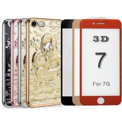 Новые Cool 3D-Dragon стиле гибкая подошва из термопластичного полиуретана чехол для iPhone 7 со стекла защитной пленки для экрана