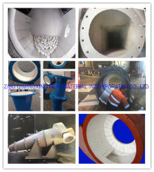 Revestimento em cerâmica resistente a abrasivos para Revestimento Cylone tijolo