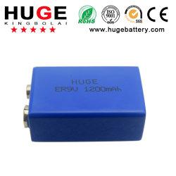 10 ans 3,6V Li-Socl2 ,Batterie 1200mAh Batterie (ER9V)