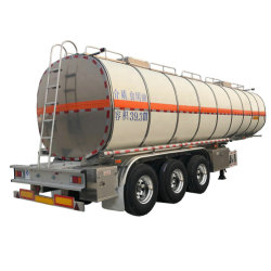 El aluminio remolque cisterna 36000L~42000L 3 Transporte de alimentos del eje aceite comestible aceite de cocina