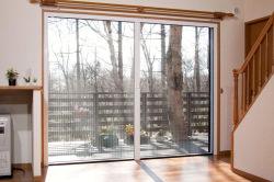 Сетка от насекомых Trackless Plisse стекла боковой сдвижной двери
