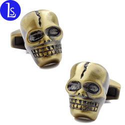 個人化されたギフトのカフスボタンのヒト科の基本的な人の頭骨または骨組金属のカフスボタン