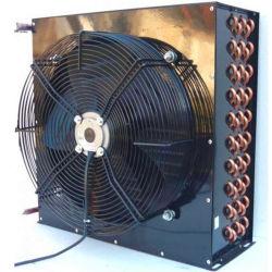 tube en cuivre ailettes en aluminium avec moteur de ventilateur du condenseur de la bobine de l'évaporateur