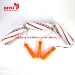 9 pouces de tissu de polyester rouge et gris Pinceau du rouleau de ligne de remplissage pour la décoration d'accueil de manchon