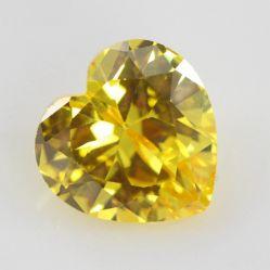 Figura cubica del cuore della pietra di Zirconia della pietra preziosa della Cina di colore giallo allentato del Peridot