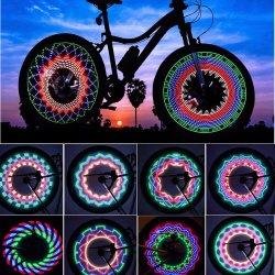 Resistente al agua de la luz LED Bicicleta habla 32 patrones de cambios