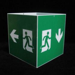 Cartelli di uscita di sicurezza personalizzati scatola di cartelli per lampade acriliche verdi