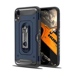 Geval van de Telefoon van de Rugdekking van de goede Kwaliteit het Schokbestendige Mobiele met Metaal Kickstand voor iPhone 9 het Geval van de Telefoon van de Cel