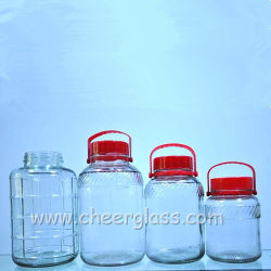 2L-18L Botella de agua de Vidrio Jarra de cristal de almacenamiento de alimentos