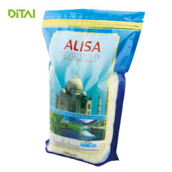 Sacs d'emballage en plastique pour le riz à l'emballage avec Ziplock