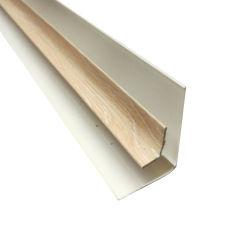 La laminación de PVC color madera accesorio del panel de plástico de la Esquina interna