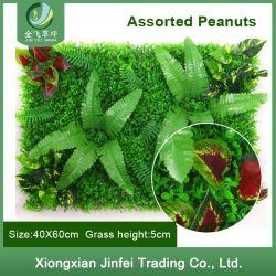 Comercio al por mayor jardín interior Decoración de pared artificial de las plantas verdes / UV retardante de fuego al aire libre de hierba artificial de cobertura de plástico de pared