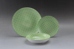 12PCS de fijne Ceramische Druk van het Stootkussen van het Vaatwerk van het Porselein Vastgestelde Ceramisch met Fijne Prijs voor 4 Mensen