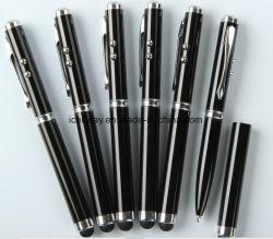 Regalo promocional Satationery Lápiz táctil láser Bolígrafo metálico con LED