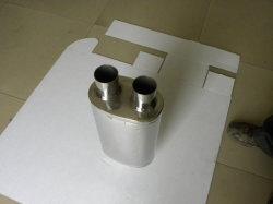 Polidos, 304 aço inoxidável dicas de panela de escape tubos final silencioso