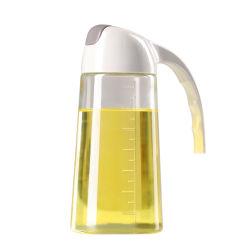 300ml自動フリップオリーブ油ディスペンサーの香辛料のガラスビン
