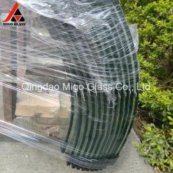 Temperado Ultratransparente dobrados sem caixilho da porta de chuveiro em vidro temperado