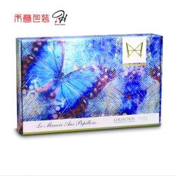 Luxe Personnalisé Blue Butterfly Six Bouteilles de Vin Boîte Cadeau d'Emballage
